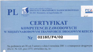Certificate of occupation competence